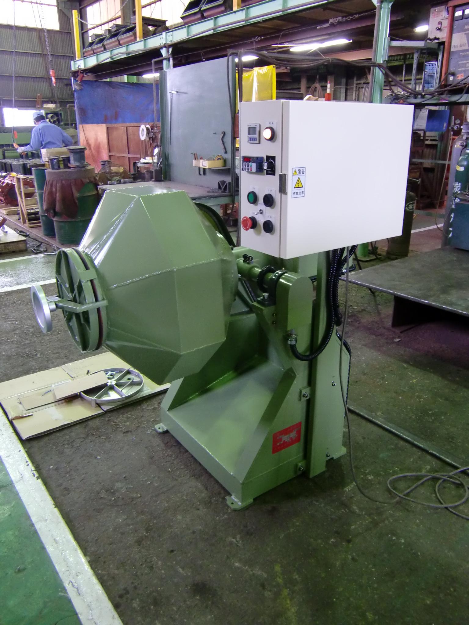 可傾式回転バレル研磨機 TKR-120型 120Lポット 標準機