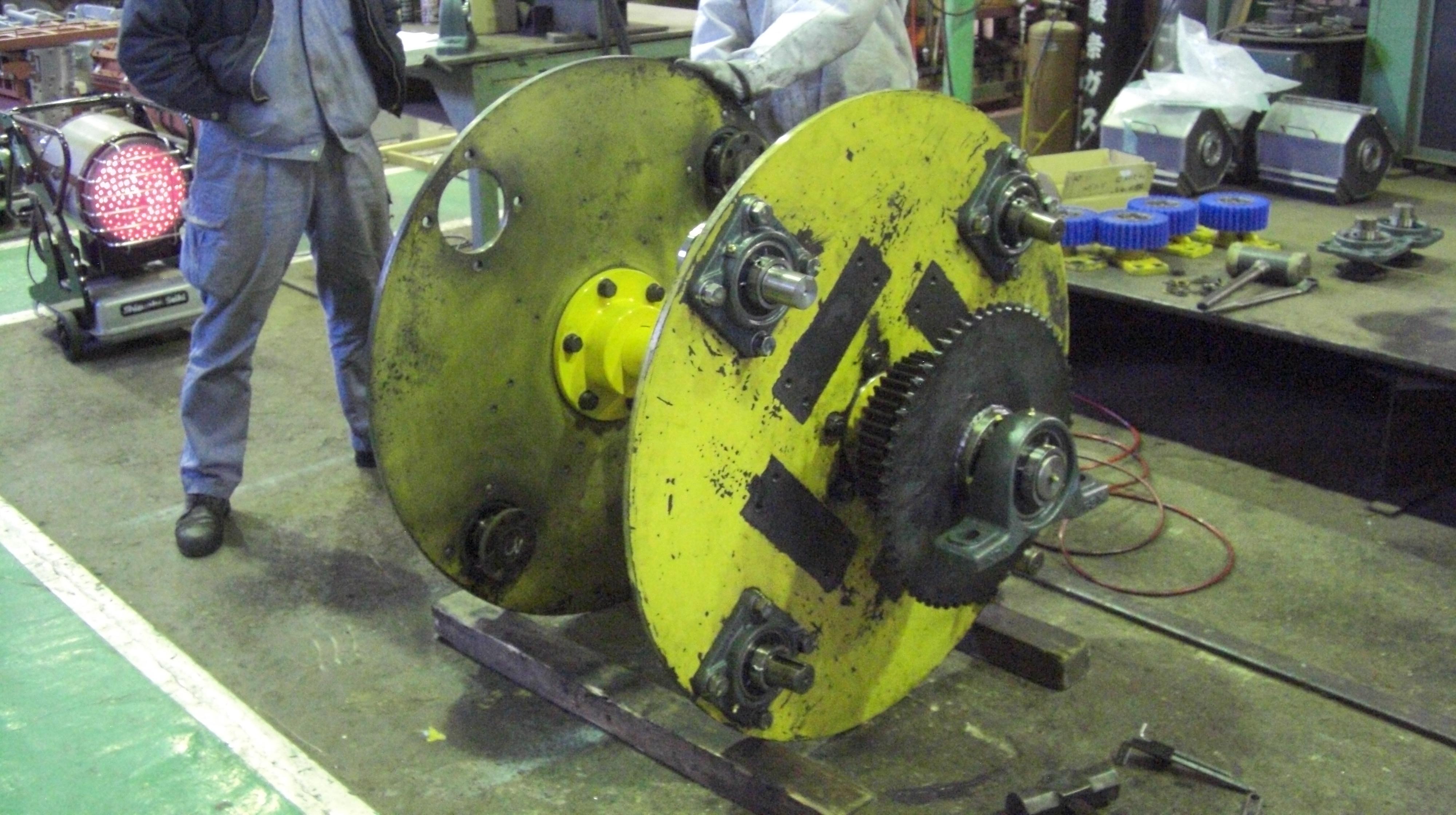 遠心バレル機 TAB-404型 オーバーホール 主軸交換